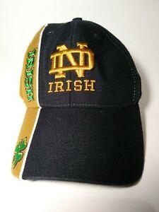 Vintage Notre Dame Fighting Irish Cap Strapback Navy Gold Twins Enterprise Hat
