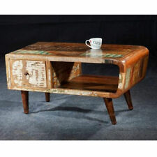 Vintage/Retro Wood Less than 60cm Coffee Tables with Shelves