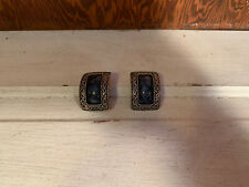 Blue And Silver Clip On Earrings
