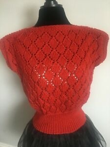 1940's hand knitted lace jumper/top