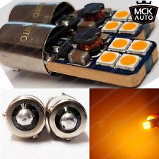 Ámbar H21W Intermitentes Bombillas LED Kit Xenón Blanco BAY9s sin Error Naranja