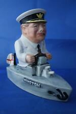BAIRSTOW MANOR COLLECTABLES WINSTON CHURCHILL SITTING IN A BOAT WWII FIGURE