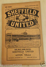 1930/31 Central League: SHEFFIELD UNITED RES. v BURNLEY RESERVES - 29th November