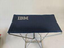 Vintage IBM Logo Metal Folding Fishing Camping Stool Chair Seat W-Box