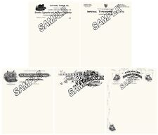 Oliver Remington Imperial  Franklin American Typewriter 5 Repro Letterheads.