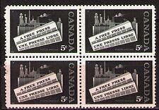 Canada 1958 Sc375  Mi322 1.60 MiEu  1 block  mnh  Canadian press
