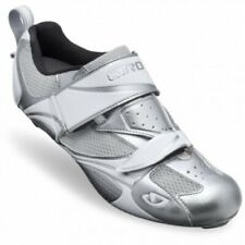 Giro Facet Chrome/White Women's Triathlon Cycling Shoes