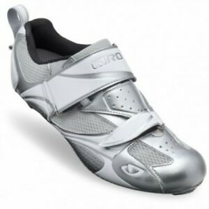 Giro Facet Chrome/White Women's Triathlon Cycling Shoes