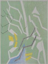 BEAUDIN ANDRE : Lithographie originale. Carte de vœux 1970galerie Sagot Le Garre