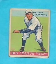 1933 GOUDEY BASEBALL GEORGE WALBERG # 183