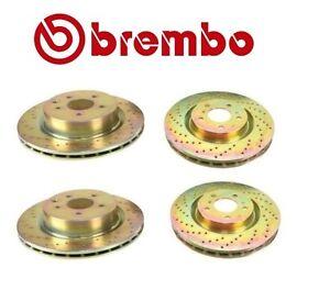For Brake Disc Set Cross Drilled Front & Rear Brembo for Infiniti G35 Nissan