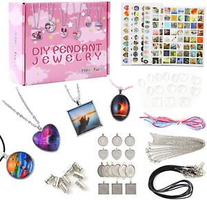 DIY Friendship Necklace Pendant Accessory Set, for children age 5 - 16 years