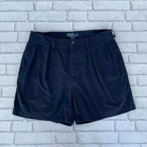 Polo Ralph Lauren Men's Andrew Chino Shorts - Size W35 - Blue Cotton - Golf
