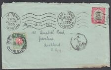 NEW ZEALAND 1935 POSTAGE DUE COVER FROM SOUTH AFRICA (ID:42/D54834)