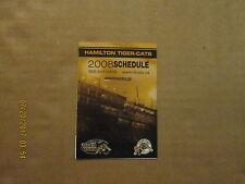 CFL Hamilton Tiger-Cats Vintage Circa 2008 Logo Football Pocket Schedule
