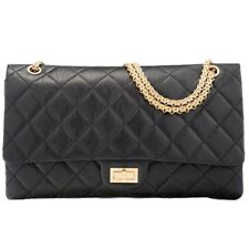 33e3794d61c370 Chanel 2.55 Reissue 227 50th Anniversary Edition Black Aged Lambskin Leather