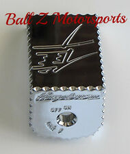 08-17 Hayabusa Chrome LARGE Ignition Switch Cover/Cap Ball Cut Edges & Engraving
