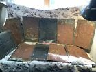 Antique Reclaimed Ceiling tile Pie Safe Tin 10 Pieces ALL Same Pattern 19th Cen.