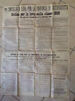Caltanissetta Manifesto Ordine per la Leva Classe 1918