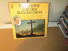 PAT BOONE - THE OLD RUGGED CROSS rare Vinyl Lp Christian Gospel 1977 Excellent