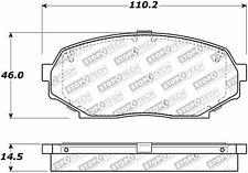 Centric Disc Street Brake Pad Set Front For 90-93 Isuzu/Geo/Mazda #308.05250