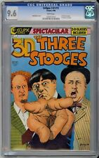 Eclipse 3-D Three Stooges #1 CGC 9.6 NM+ Wp Eclipse Comics 1986 Glasses Included