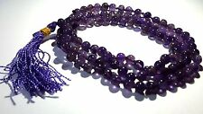 AMETHYST Mala Beads Japa 108 Prayer Hindu Buddhist Gemstone Crystal