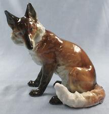 Fuchs füchse ens  porzellanfigur figur porzellan fox volkstedt alt