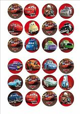 Disney Cars Fairy cup cake decoration toppers x 24 on ICING
