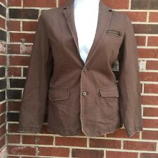 Small Petite Aeropostale Compagnie Generale Brown Cotton Coat Jacket NWT