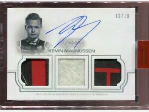2020 Topps Dynasty F1 Formula One Kevin Magnussen Triple Patch Auto Autographed