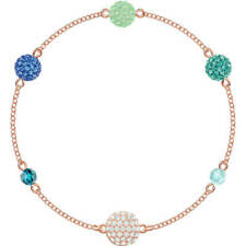 Authentic Swarovski Remix Collection Strand Bracelet with Green and Blue Balls