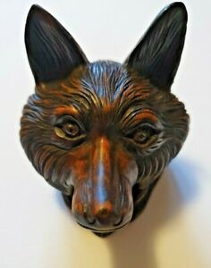 Black Forest Wood Fox Inkwell Hand Carved