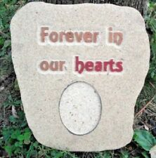 Plaster concrete memorial animal people plastic mold