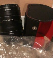 Vivitar Automatic Extension tube set 12mm, 20mm, 36mm With Bag Japan