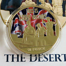 JERSEY 2015 THIS IS YOUR VICTORY THE DESERT RATS 5Op GOLD PLATED PROOF - coa