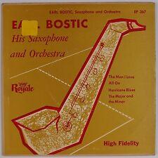 EARL BOSTIC: Hurricane Blues ORIG Sax R&B 50s EP Royale Rare 45 HEAR