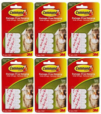 6 Packs of 3M Command 12 Poster Hanging Strips Damage Free Hanging Home Office