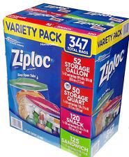 Ziploc Freezer Food Bags Variety Pack 347 Bags Zip Seal