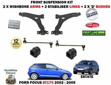 FOR FORD FOCUS ST170 2.0 2002> 2X WISHBONE ARMS 2X STABILISER LINK BARS D BUSHES