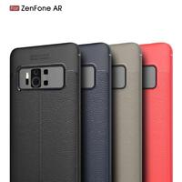 New Vintage TPU Litchi Leather Grain Shockproof Soft Case For Asus Zenfone Phone