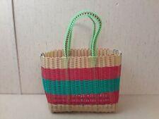 Vintage Plastic Basket Weave Purse Tote