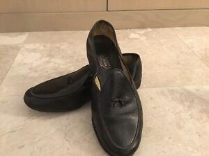 Belgian Shoes Black Lizard