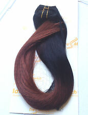 "Ombre Remy Human Hair Clip in Extensions 16""OR 20"" inch Full Head Thick to Ends"