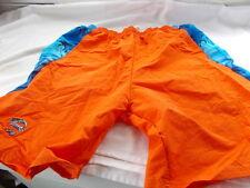 Yale Swimsuit Trunks Shorts Sz Large Orange Blue Tropical