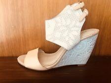 Guy Laroche Paris-Patterned Wedge Shoe-Size 37