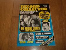 RECORD COLLECTOR MAGAZINE ~ MAY 1987 ISSUE:93 STONES BON JOVI FRANK ZAPPA & MORE