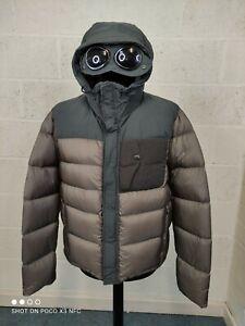CP Company Ultralight Nylon Down Goggle Jacket In Khaki BNWT