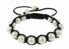 Baroque 9-10mm White Freshwater Pearl Bracelet Inspired by Jewels 7.5''