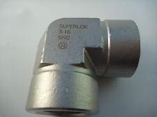"Superlok 1"" Instrument Grade Female Elbow, Stainless Steel, Ss-16-E"